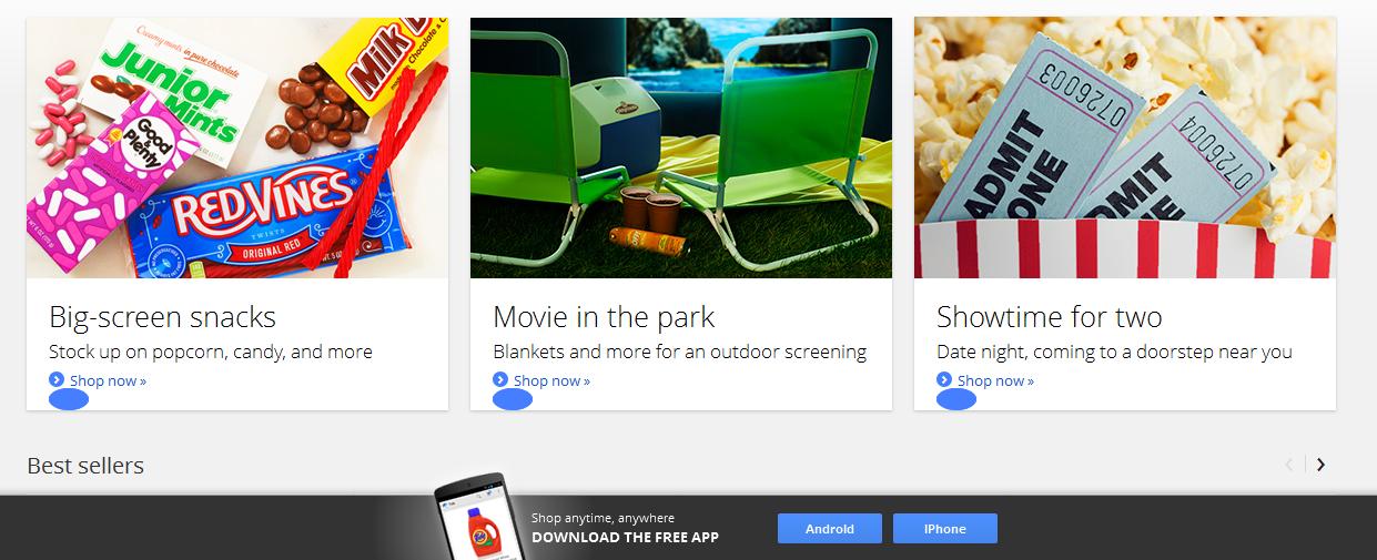 il sito di Google shopping Express san francisco