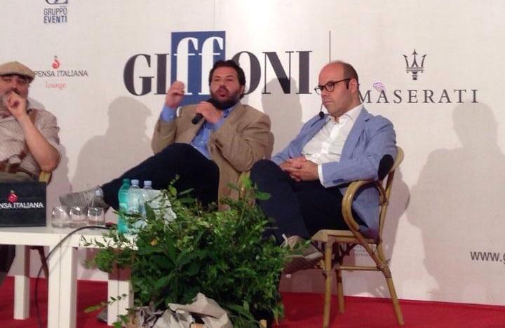 Tommaso Niccoli e Giancarlo Panico al Giffoni Film Festival