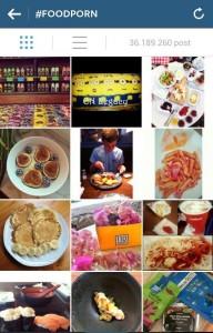 food porn (hashtag #foodporn) su instagram