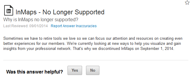 inmaps no longer supported