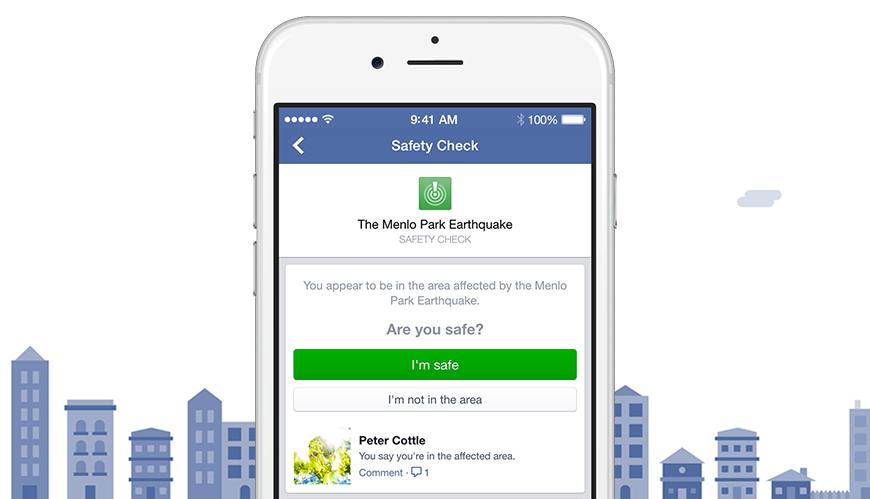 facebook annuncia safety check dalle pagine della newsroom