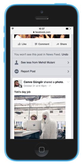 facebook newsfeed: scegliere di vedere meno contenuti di un amico o una pagina
