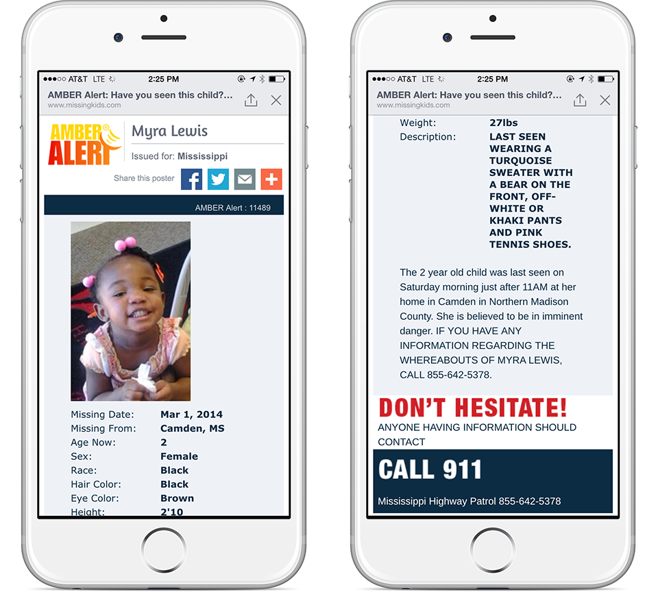 facebook introduce gli amber alert