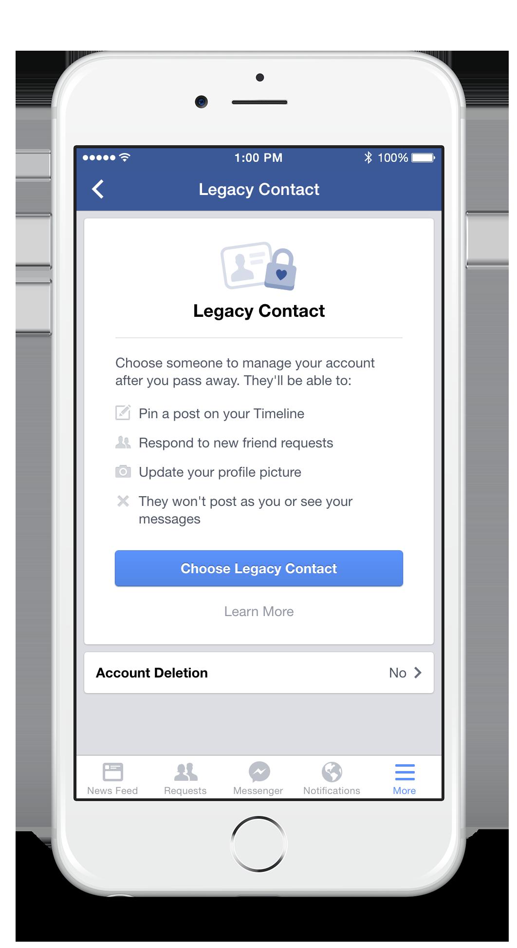 facebook come scegliere legacy contact, il testamento del profilo