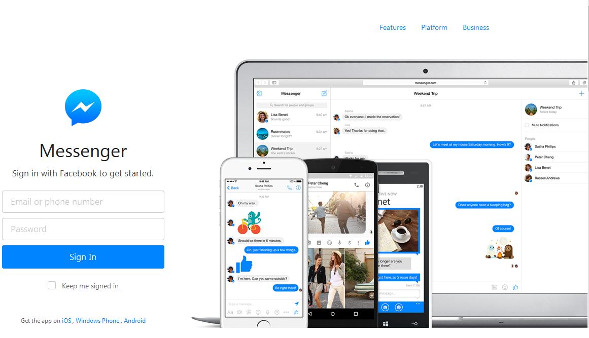 messenger.com la versione desktop di facebook messenger