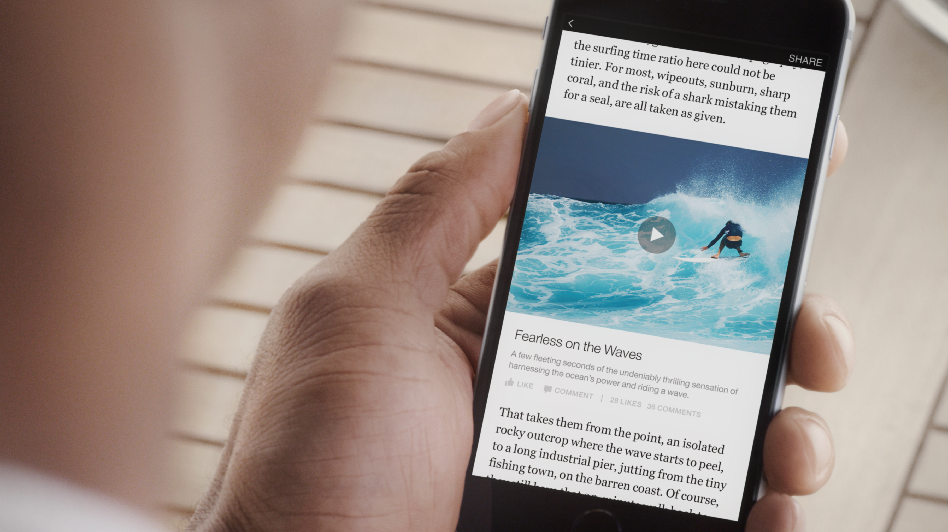 Video on instant articles
