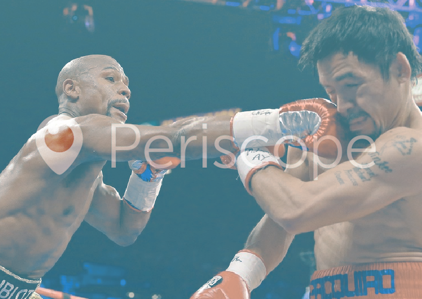 pacquiao mayweather on periscope