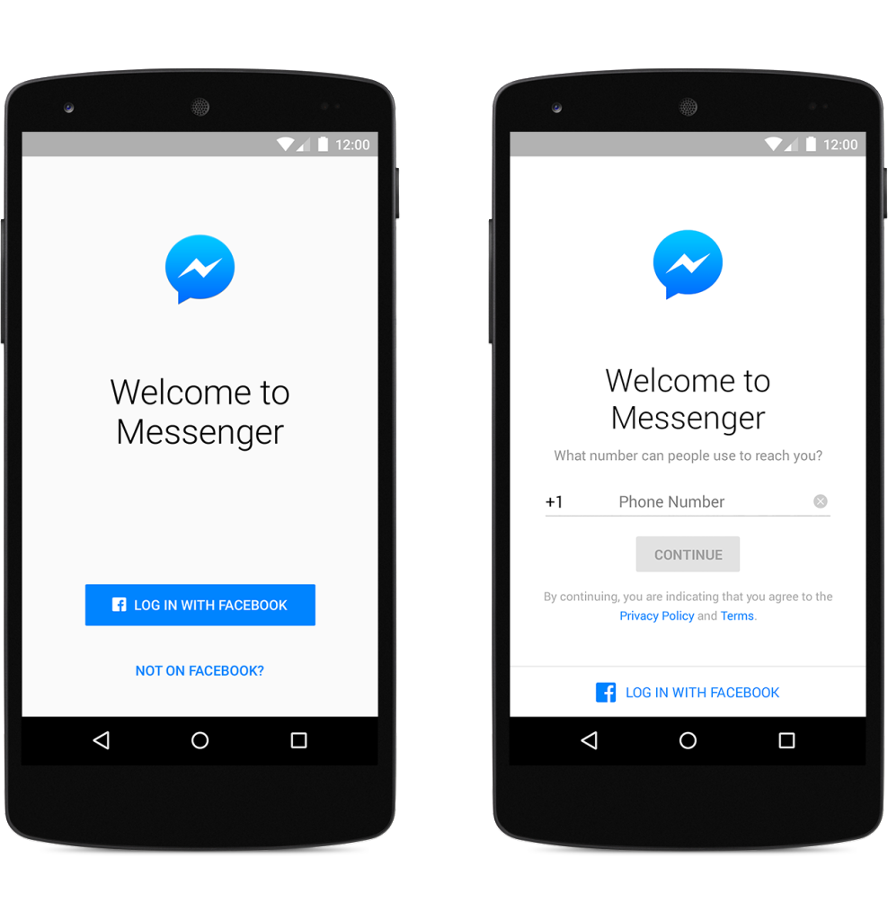 Messenger Sign Up Android