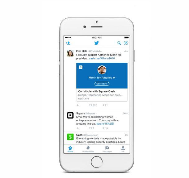 Twitter: partnership con Square per effettuare donazioni con un tweet