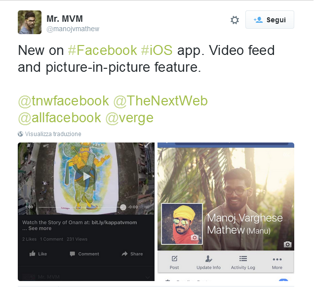 facebook picture in picture