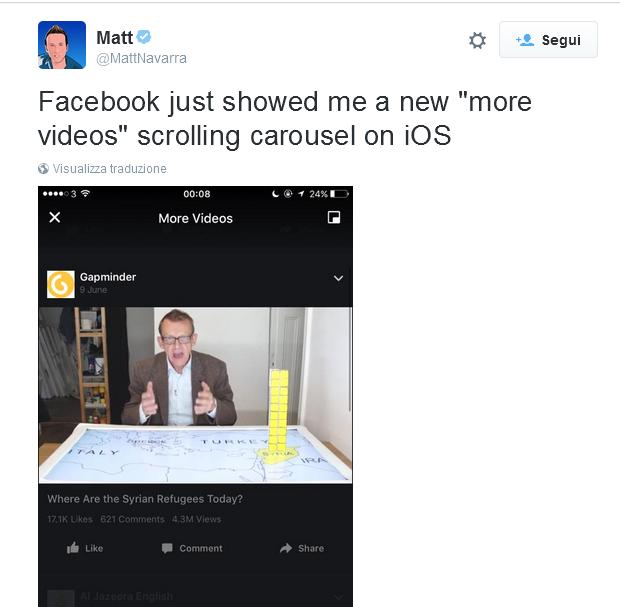 facebook video carousel