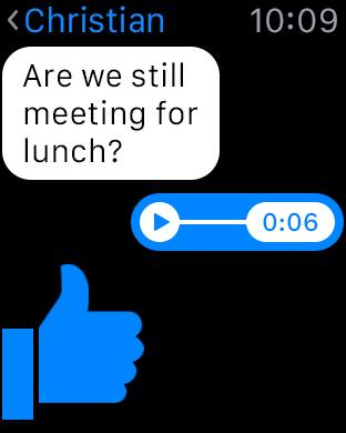 Messenger approda su Apple Watch