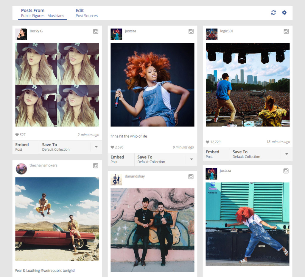 signal - integrazione contenuti instagram
