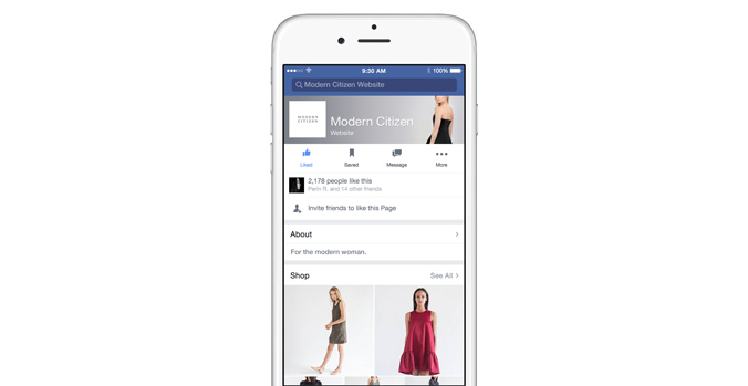 facebook area shop