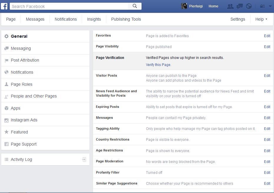 come verificare una pagina facebook