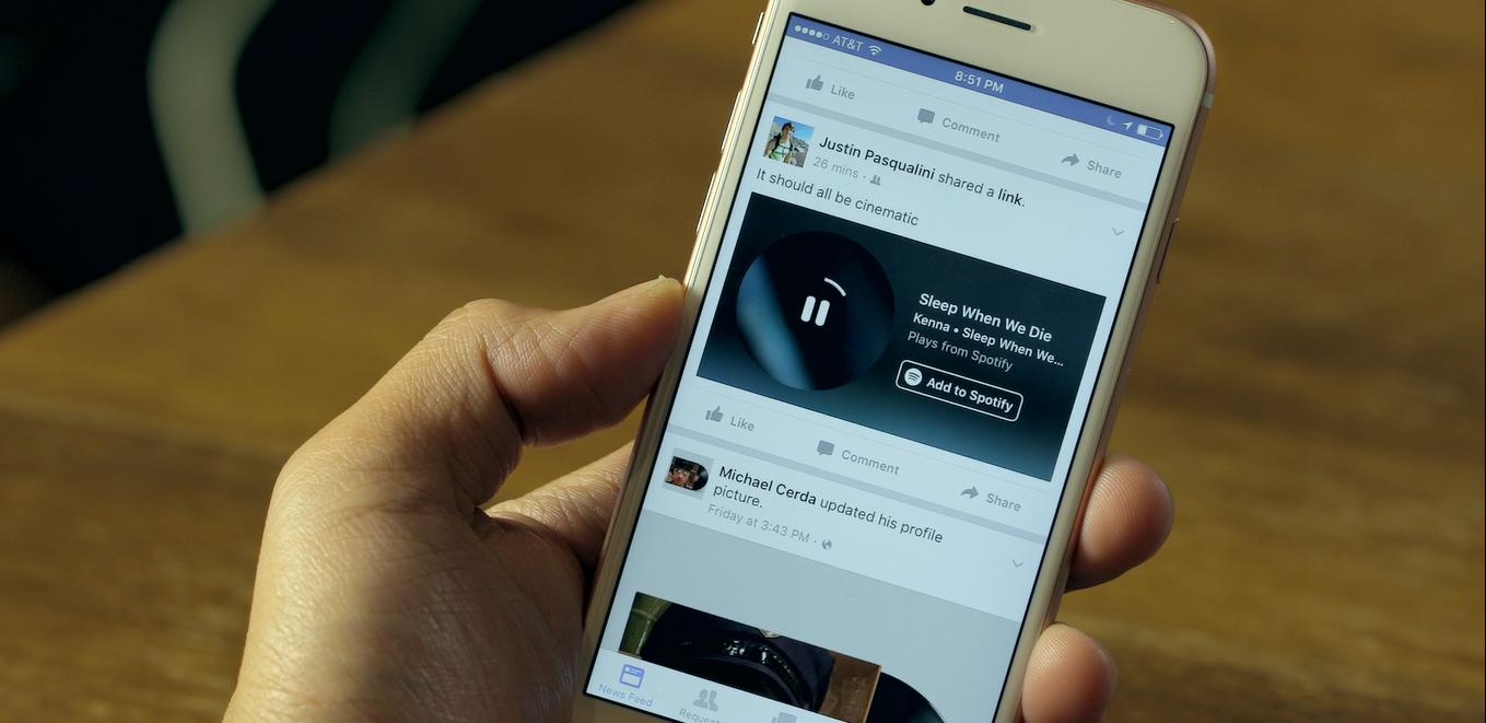 Spotify su Facebook