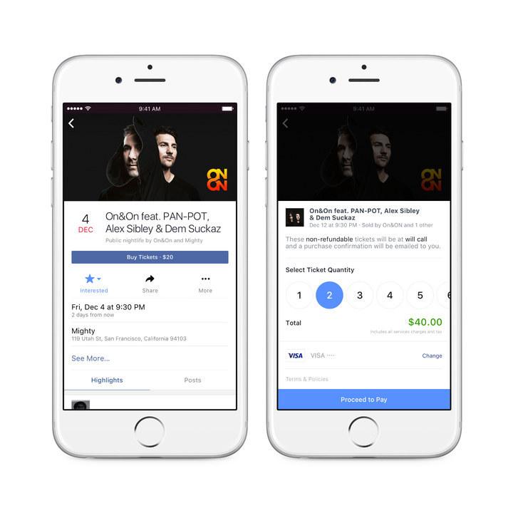 comprare biglietti per concerti su facebook