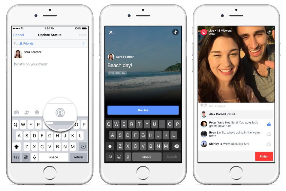 facebook lancia mentions per tutti
