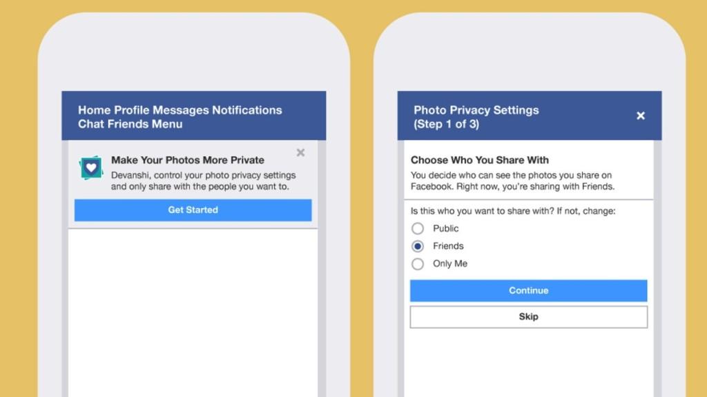 impostazioni privacy foto facebook