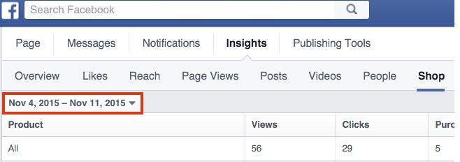 insight vendita facebook