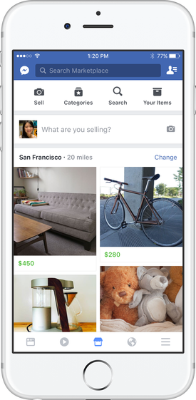 facebook marketplace icona negozio