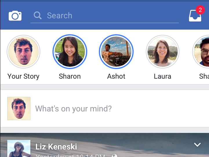 Stories su Facebook