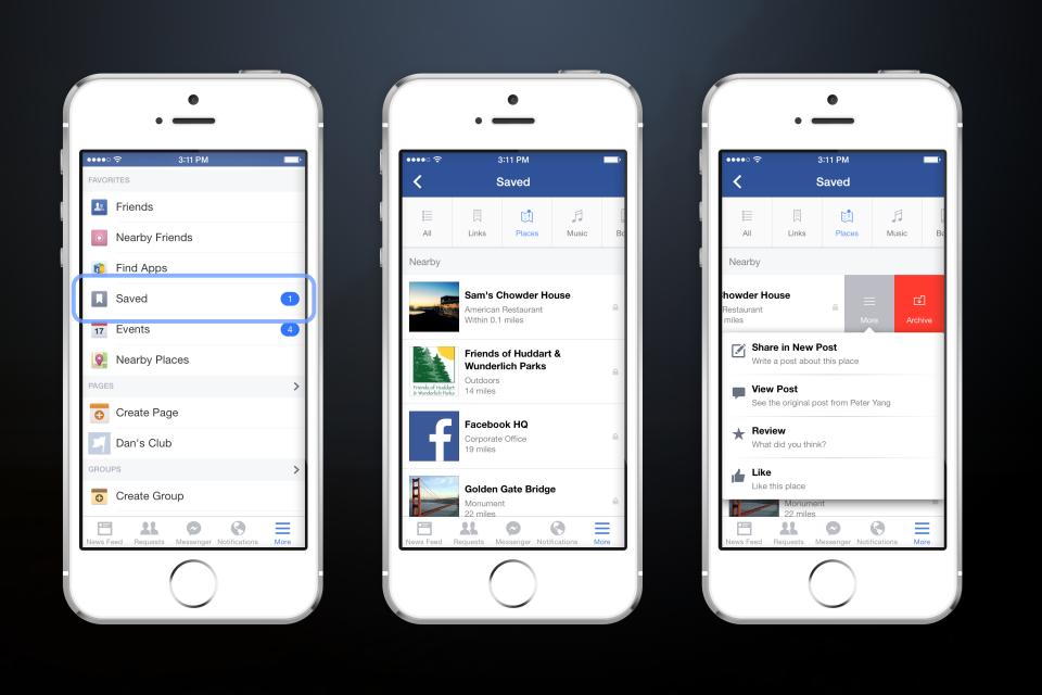 Facebook Annuncia Save, il nuovo servizio che consentirà di tenere promemoria dei contenuti