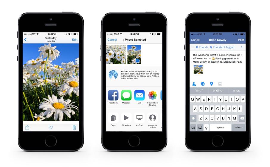 le novità di facebook per ios 8