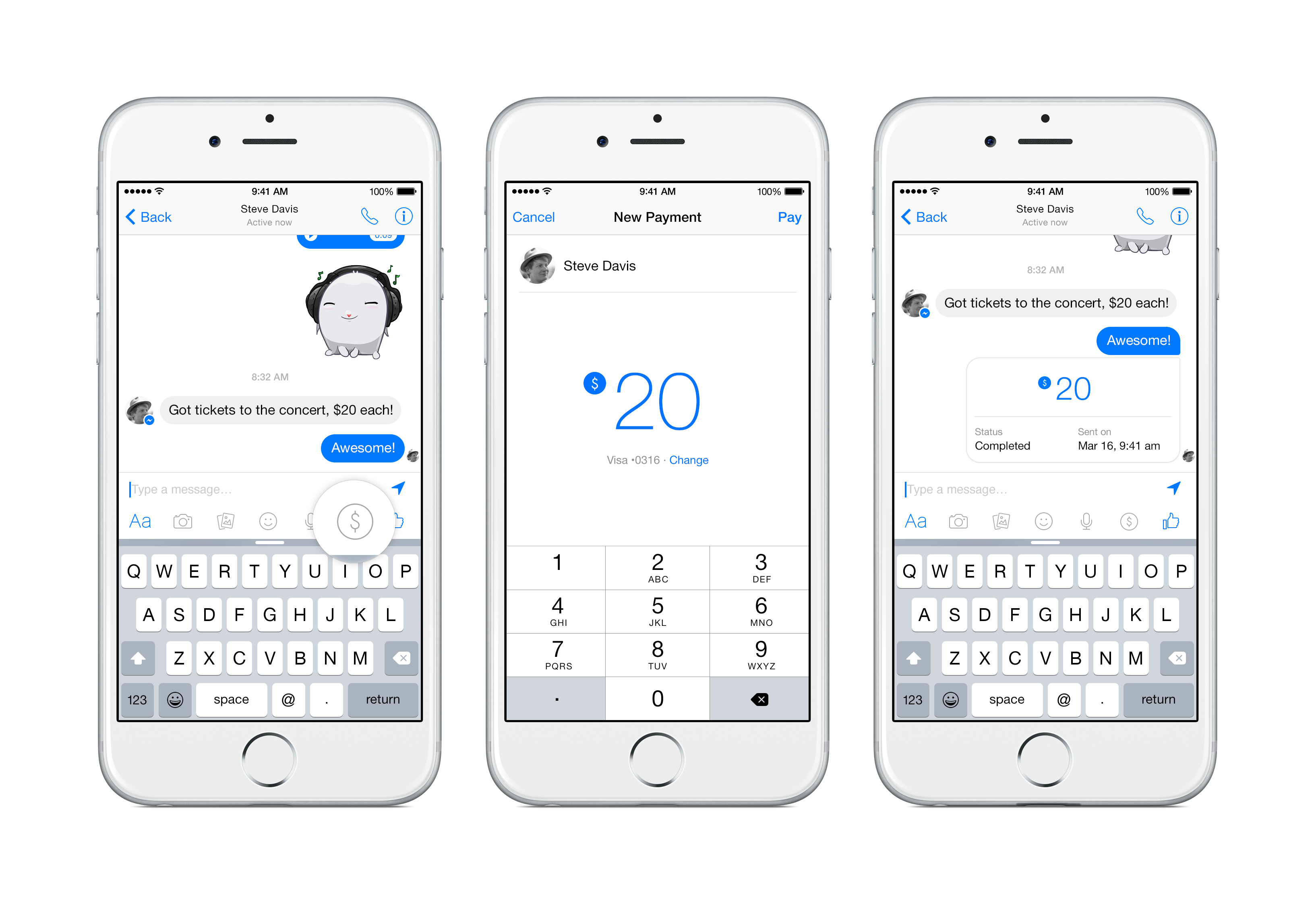 facebook messenger for payments