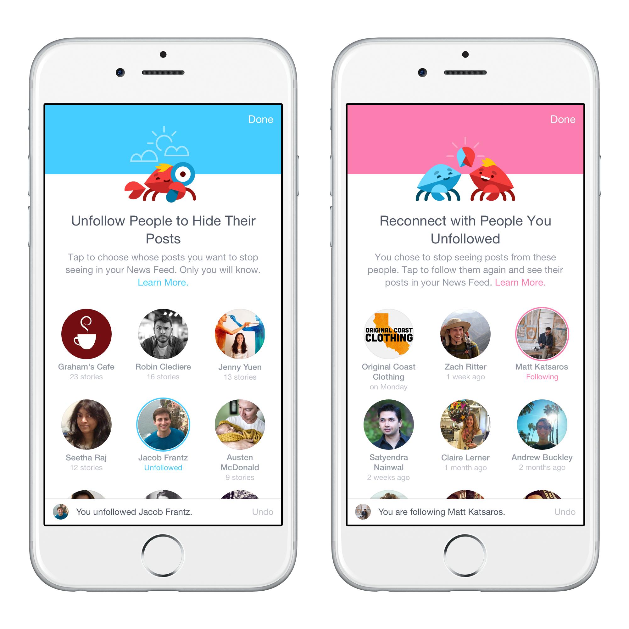 Facebook predispone nuovi strumenti per la gestione dei contenuti sul news feed: utenti e pagine consultati nell'ultima settimana