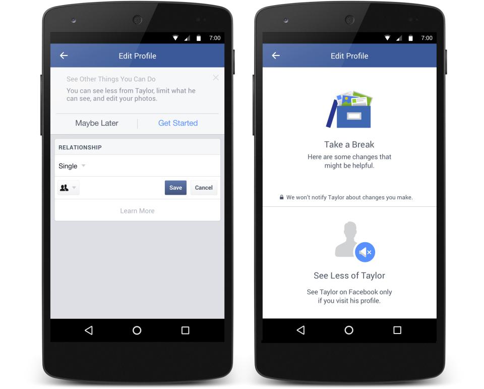facebook take a break