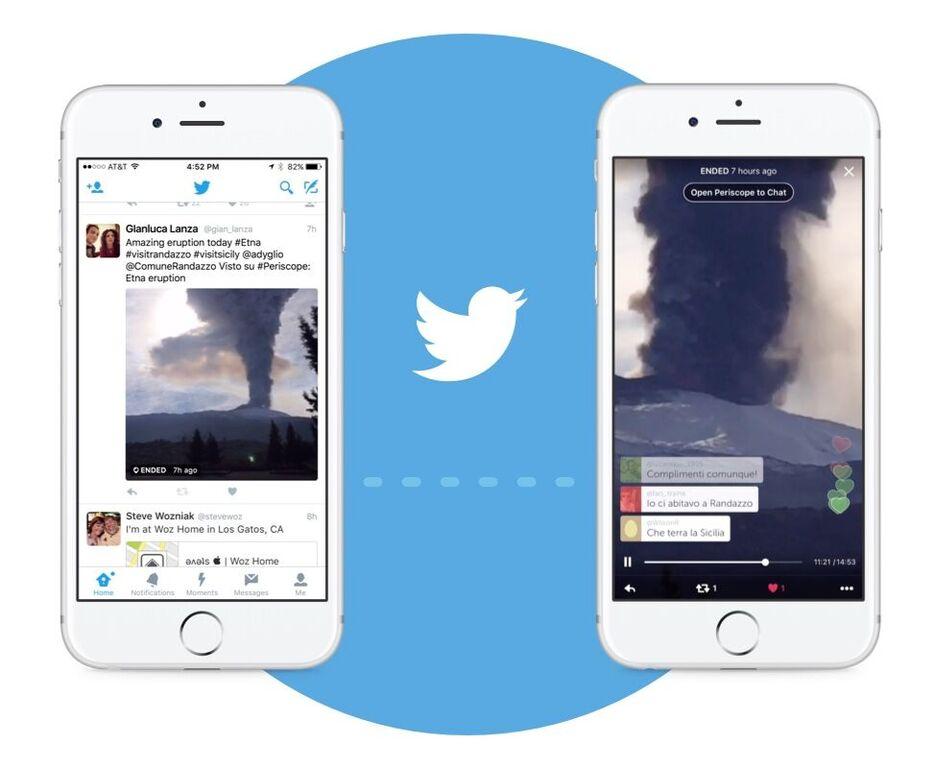 periscope approda sul feed di twitter